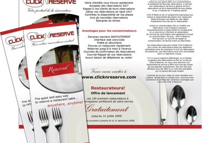 Flyers / Pamphlets - ClickNReserve