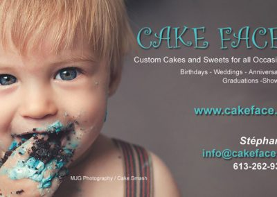 Business cards/Cartes d'affaire - CakeFace