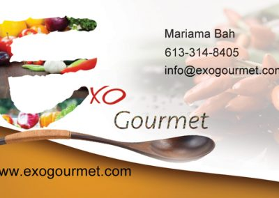 Business cards/Cartes d'affaire - ExoGourmet